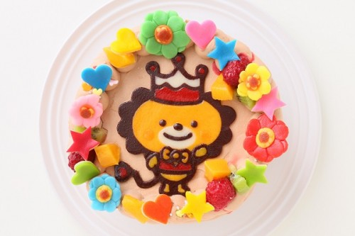 小麦除去 キャラクターケーキ チョコ生クリーム 4号 12cm