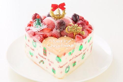 クリスマスケーキ2017 バニラアイスクリームのデコレーションケーキ 5号 15cm
