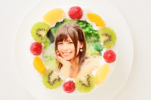 写真ケーキ丸形生クリーム 4号 12cm