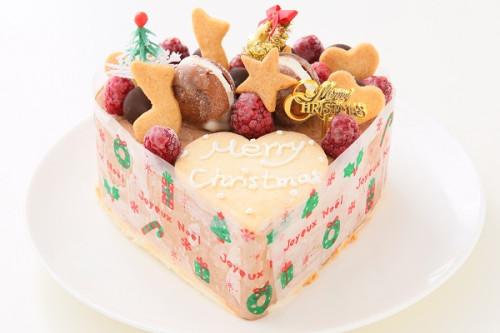 クリスマスケーキ2020 チョコアイスクリームのデコレーションケーキ 4号 12cm