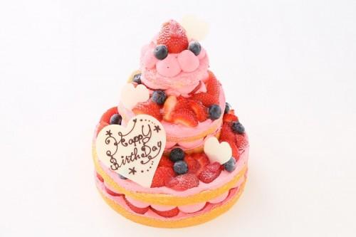 苺のネイキッドケーキ 直径24×18×12cm
