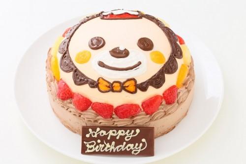 立体チョコ生クリームデコレーションケーキ 5号 15cm(乗り物不可)