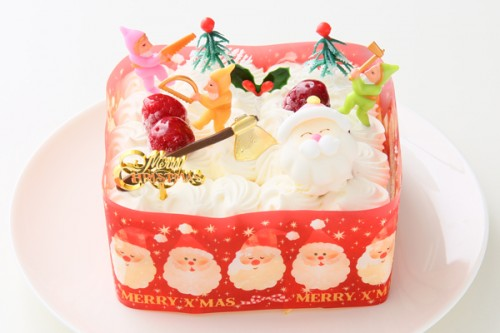 クリスマスケーキ2018 ホワイトクリスマス 12cm×12cm