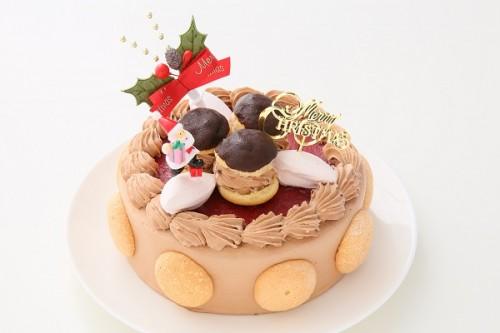 クリスマスケーキ2017 ファミリークリスマス チョコクリーム  5号 15cm (1261)