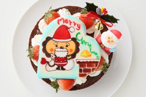 クリスマスケーキ2017キャラクタークッキープレート付き x'masガトーショコラ 5号 15cm