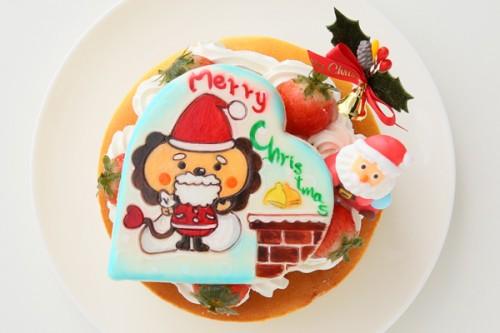 クリスマスケーキ2017キャラクタークッキープレート付き x'masチーズケーキ 5号 15cm
