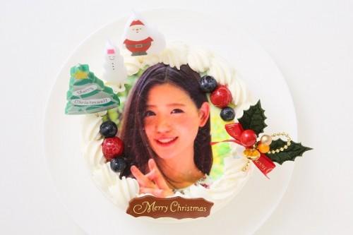 クリスマスケーキ2018 Xmasフォト生デコレーションケーキ 4号 12cm