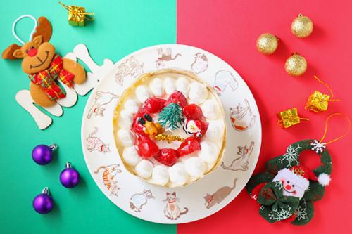 クリスマスケーキ2019 乳製品・小麦粉除去可能 デコレーションケーキ 4号 12cm