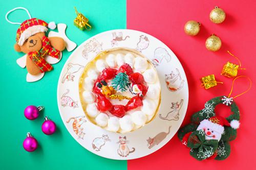 クリスマスケーキ2019 卵・乳製品・小麦粉除去可能 デコレーションケーキ 4号 12cm