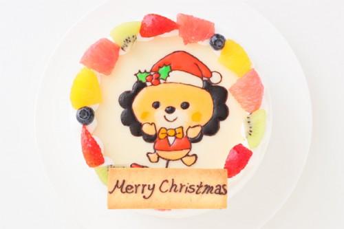 クリスマスケーキ2018 イラスト生クリームデコレーションケーキ  4号 12cm