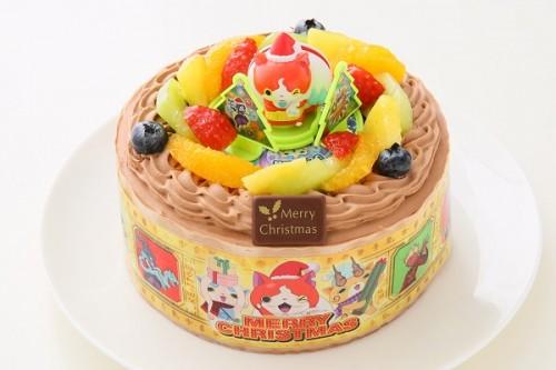 クリスマスケーキ2017 妖怪ウォッチ 生チョコクリーム 5号 15cm