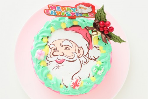 クリスマスケーキ2018 サンタデコレーション  5号 15cm