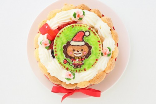 クリスマスケーキ2019 キャラプレート付き ファーストバースデー フルーツデコレーション 3号 9cm