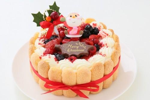 クリスマスケーキ2019 たっぷりベリーの生クリームデコレーション 3号 9cm