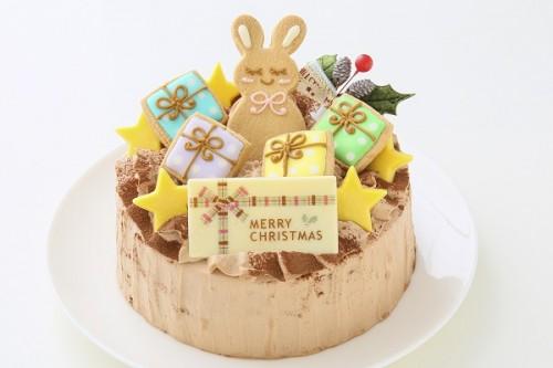 クリスマスケーキ2017 X'masアイシングデコレーション チョコ 5号 15cm