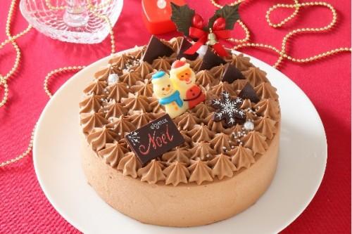 クリスマスケーキ2018 Xmasチョコ生デコレーション 5号 15cm