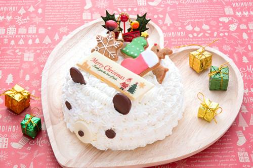クリスマスケーキ2019 白くまのクリスマス 5号 15cm