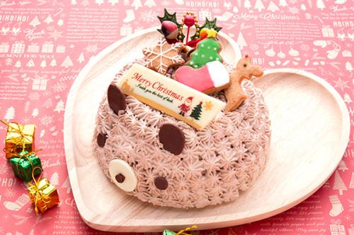 クリスマスケーキ2019 チョコくまのクリスマス 5号 15cm