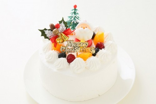 クリスマスケーキ2017 卵・乳製品・小麦粉・大豆除去可能  クリスマスケーキ 生 5号 15cm