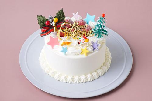 クリスマスケーキ2020 いちごと純生クリームのクリスマスケーキ  4号 12cm