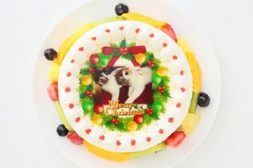 クリスマスケーキ2017 フォト 生デコレーションケーキ 5号 15cm