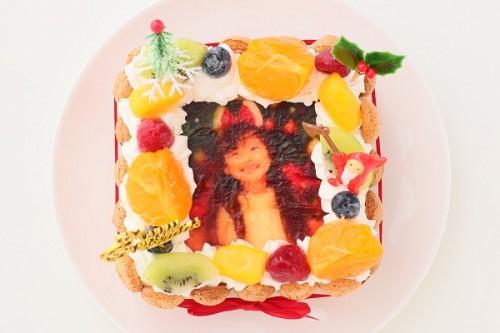 クリスマスケーキ2017 スペシャルフォトケーキ 15×15cm