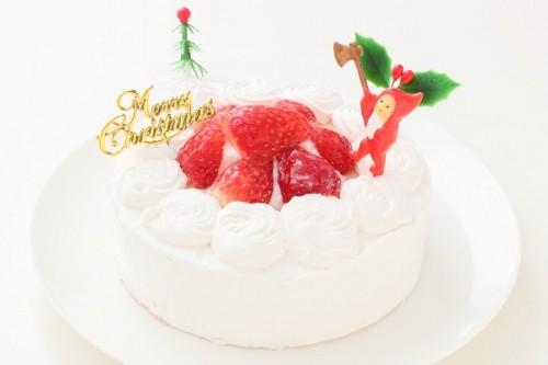 クリスマスケーキ2017 卵・乳製品・小麦粉除去  アレルギー対応デコレーションケーキ 5号 15cm