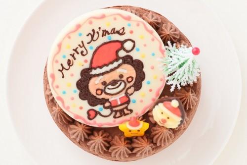 クリスマスケーキ2017 キャラクターXmasプレートチョコケーキ 5号 15cm