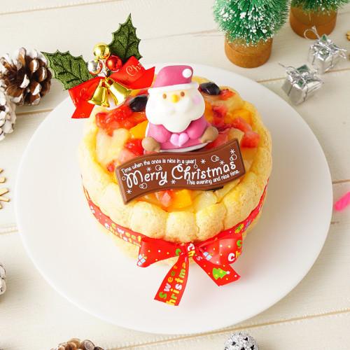 クリスマスケーキ2018 ファーストバースデーケーキ ホイップヨーグルトクリーム 3号 9cm