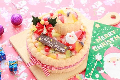 クリスマスケーキ2019 2段重ねファーストバースデーケーキ ホイップヨーグルトクリーム 下段12cm上段6.5cm