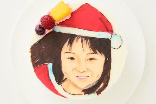 クリスマスケーキ2017 似顔絵ケーキ 生 5号 15cm