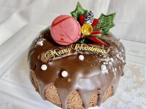 クリスマスケーキ2019 口どけ滑らかなガトーショコラ・ドリップデコ 4号 12cm