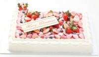 クリスマスケーキ2018 イチゴたっぷりパーティデコレーションケーキ 30×40cm