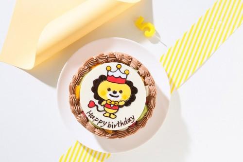 贅沢苺2段サンド キャラクターイラストケーキ チョコクリーム 5号 15cm