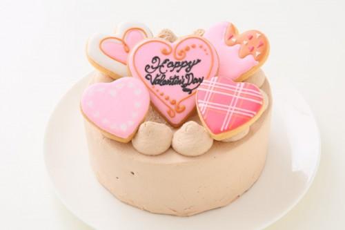 アイシングのせバレンタインチョコデコレーション 5号 15cm