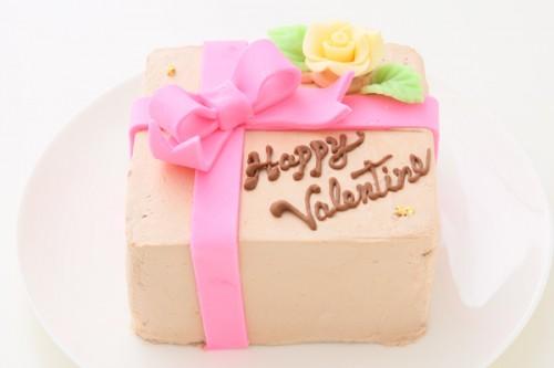 プレゼントボックス チョコクリーム 12cm