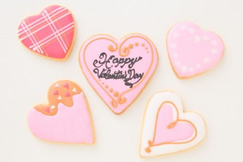 限定20個 バレンタインアイシングクッキー5枚セット