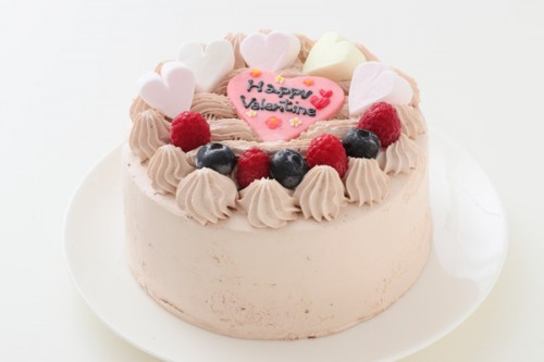 卵・乳製品・小麦粉除去可能 バレンタイン限定デコケーキ 3号 12cm