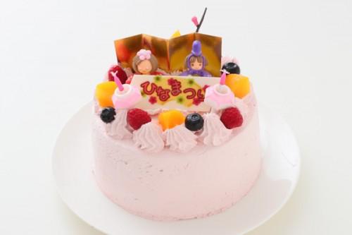 卵・乳製品・小麦粉・大豆除去可能 ひなまつり限定デコケーキ(苺クリーム) 5号 15cm
