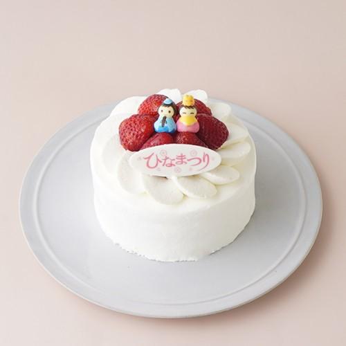 ひなまつりのイチゴ生デコレーションケーキ 5号 15cm