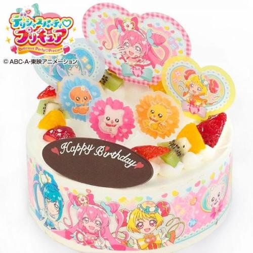 キャラデコお祝いケーキ スター☆トゥインクルプリキュア 生クリームデコレーション 5号 15cm