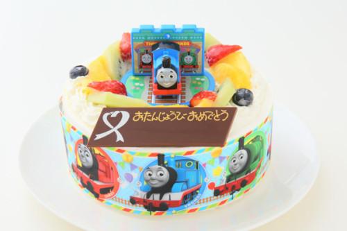 キャラデコ☆機関車トーマス 生クリームデコレーション 5号 15cm