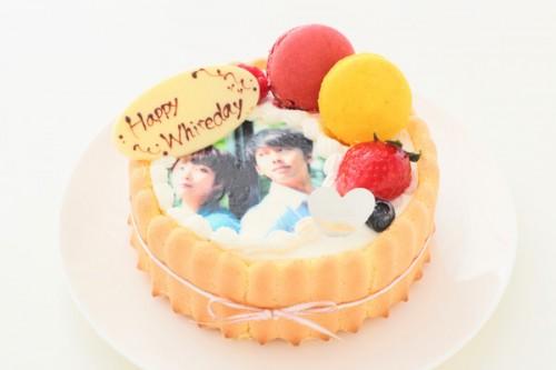ホワイトデー フォト生デコレーションケーキ 4号 12cm