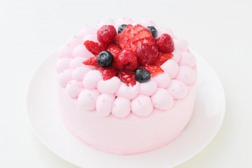 ピンクデコレーション 贅沢苺2段サンド 5号 15cm