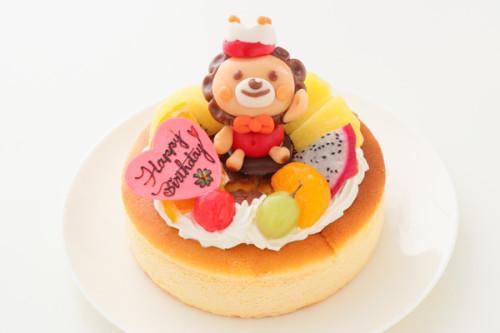 キャラ人形付きスフレチーズケーキ 5号 15cm