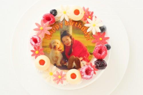 フォトケーキ 白いデコレーション 4号 12cm