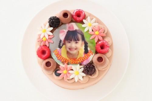 フォトケーキ チョコデコレーション 4号 12cm