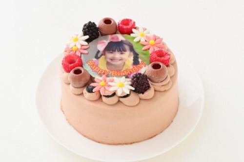 フォトケーキ チョコデコレーション 5号 15cm