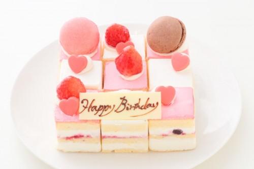 キャレデコレーションケーキ赤 14.5cmx4.5cm