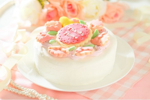 卵・乳除去可能 国産小麦粉と安心材料*母の日*クッキーデコレーション 4号 12cm